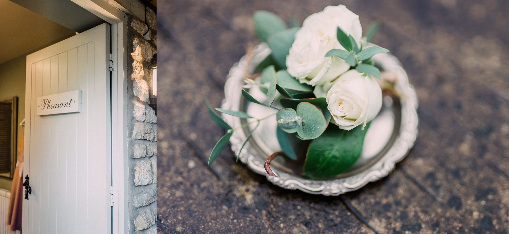 Buttonhole on plate by Styling Farm