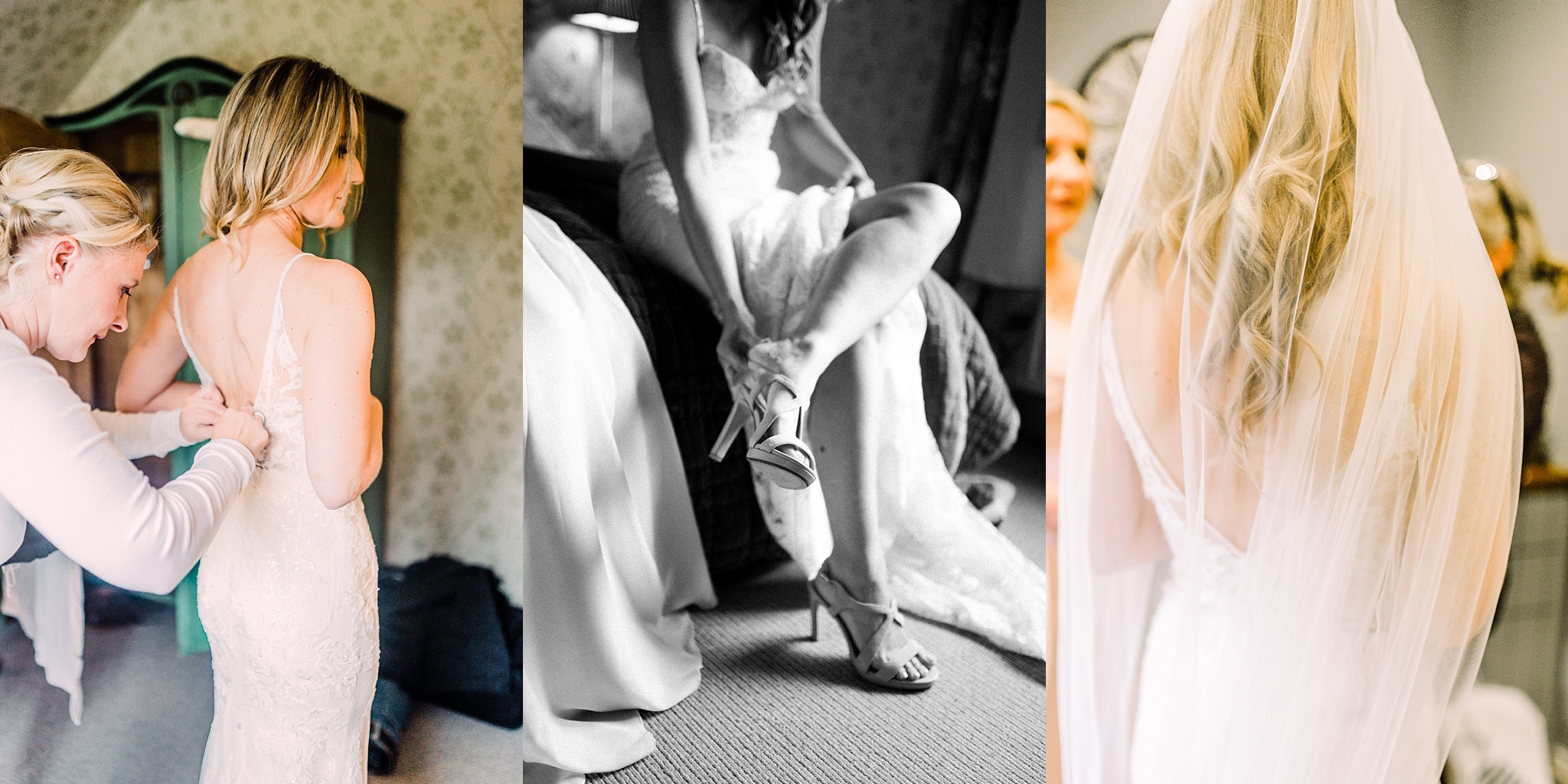 Bride getting ready at Pheasant Hotel, Harome