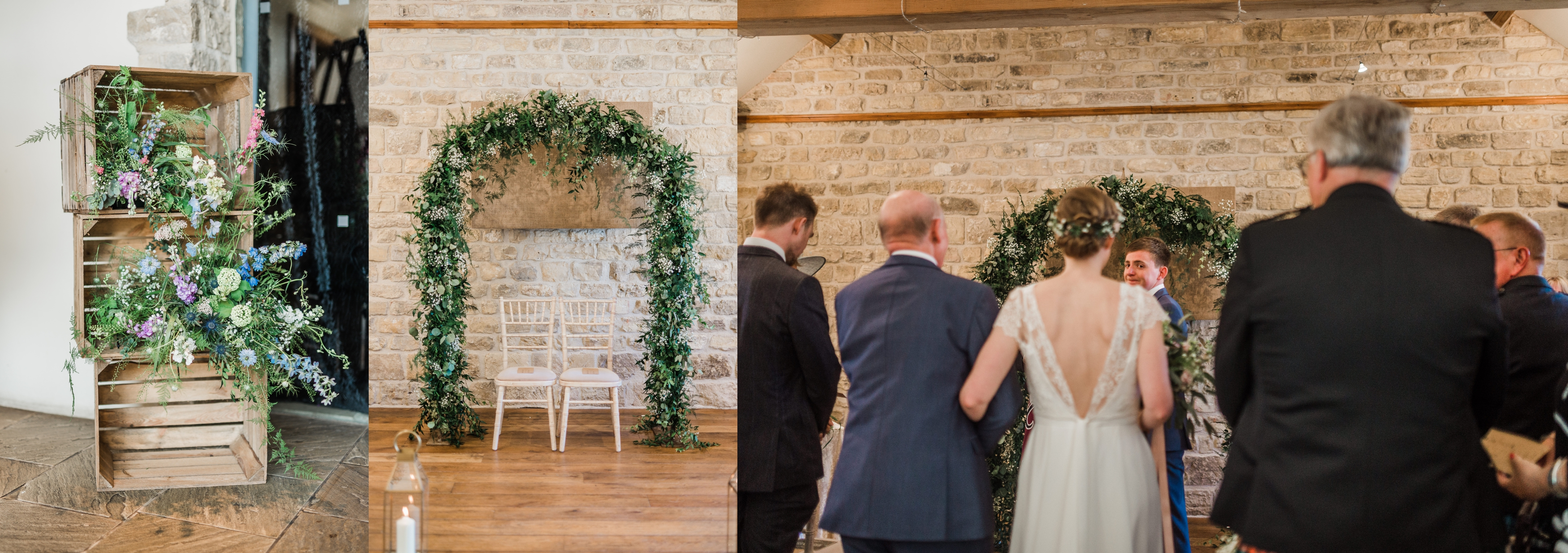 Civil Wedding Ceremony at Priory Cottages nr Wetherby