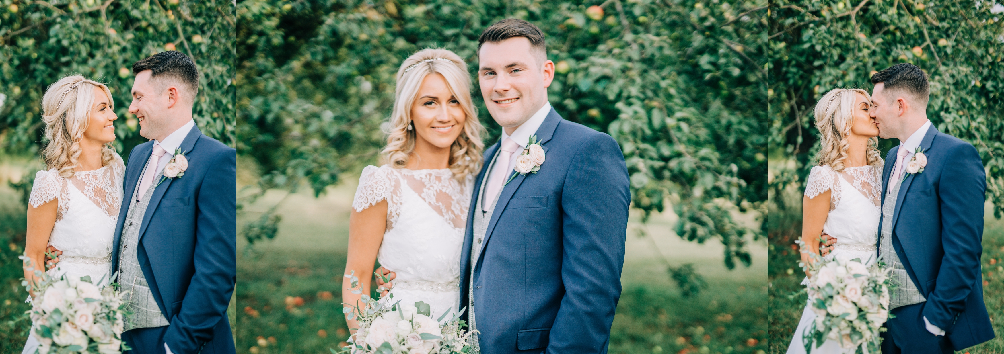 Bride and Groom at Priory Cottages Wetherby